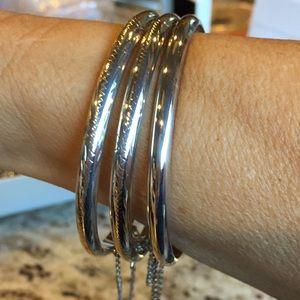 Sterling silver bracelets receive 3